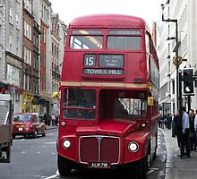 Number 15 London Bus to Tower Hill by Keith Larby