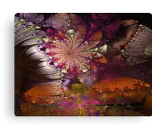 FLOWERS AND BUTTERFLIES SUMMER SOJOURN 2 Canvas Print