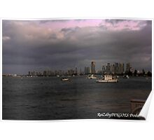 Surfers Paradise in the evening Poster