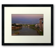 The River Adige, Verona Italy Framed Print