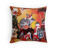 Aussie Christmas Collage Throw Pillow
