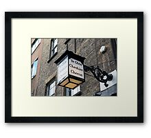 Ye Olde Cheshire Cheese wall lamp in Fleet Street London Framed Print