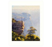Misty Cliffs Katoomba Art Print