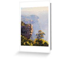 Misty Cliffs Katoomba Greeting Card