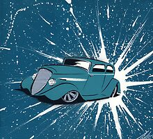 Hot Rod Splat 02 Painting by Richard Yeomans