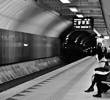 waiting underground  by Karen E Camilleri