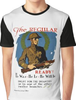 Enlist For The Infantry -- WWI Graphic T-Shirt