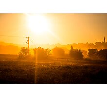 Orange Mist Photographic Print