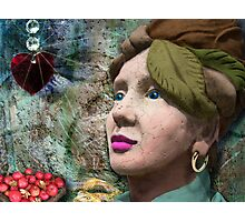 the red heart of a stone lady Photographic Print
