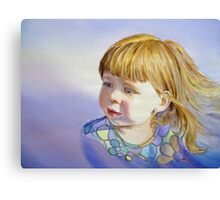 Rainbow Breeze - Girl's Portrait Canvas Print