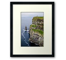 tower and cliffs Framed Print