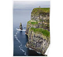 tower and cliffs Poster