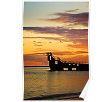 Blackrock sunset Poster