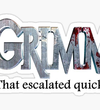 GRIMM in 3 Words Sticker