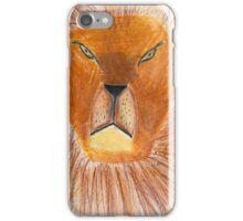 Drawing of lion by a child iPhone Case/Skin