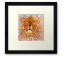Drawing of lion by a child Framed Print