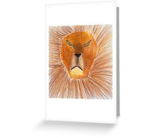 Drawing of lion by a child Greeting Card