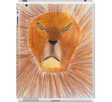 Drawing of lion by a child iPad Case/Skin