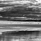 Family on storm beach by adrianpym