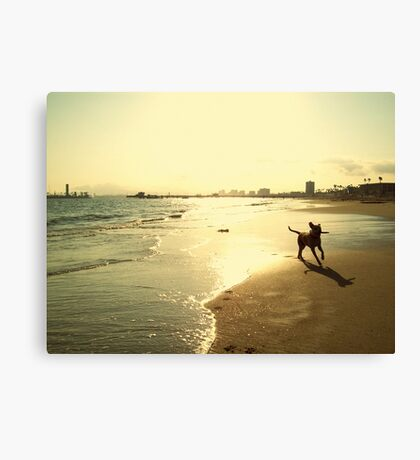 When She is the Happiest Canvas Print
