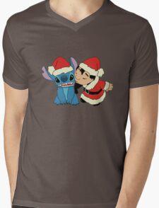 Christmas Lilo  and Stitch Mens V-Neck T-Shirt