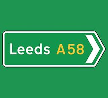 Leeds, Road Sign, UK  by worldofsigns