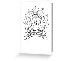 SpiderDent Greeting Card