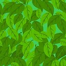 Green Leaves seamless by elangkarosingo