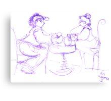 Violet inkpen conversation Canvas Print