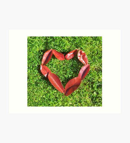 I be-leaf I love you (Square Version) Art Print