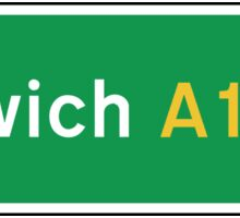 Ipswich, Road Sign, UK  Sticker