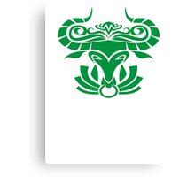 Zodiac Sign Taurus Green Canvas Print
