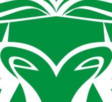 Zodiac Sign Taurus Green Sticker