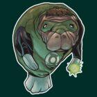 Green Lantern Manatee by jomiha