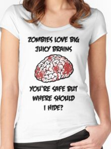 Juicy Brains Women's Fitted Scoop T-Shirt