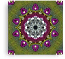 Purple Snakeskin Flower Canvas Print