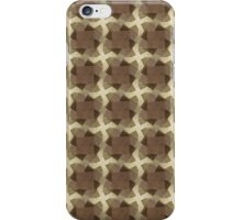 Abstract Brown Squares Pattern iPhone Case/Skin