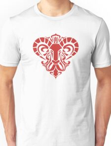 Zodiac Sign Aries Red Unisex T-Shirt