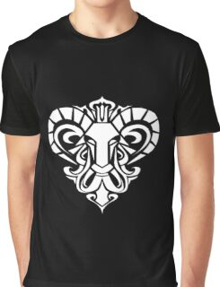 Zodiac Sign Aries White Graphic T-Shirt
