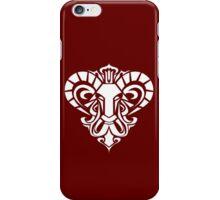 Zodiac Sign Aries White iPhone Case/Skin