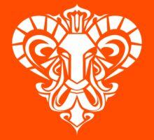 Zodiac Sign Aries White by elangkarosingo