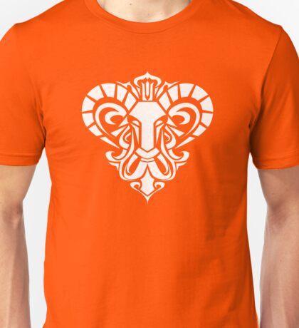 Zodiac Sign Aries White Unisex T-Shirt
