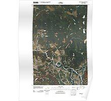 USGS Topo Map Washington State WA Snoqualmie 20110503 TM Poster