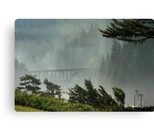 Misty Bridge at Heceta Head Canvas Print