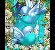 Blue Bird iPhone Case by Moonlake