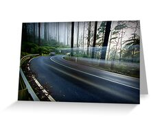 Moving through Time - Black Spur, Victoria, Australia Greeting Card