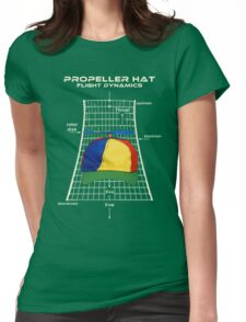 Propeller Hat Flight Dynamics Womens Fitted T-Shirt