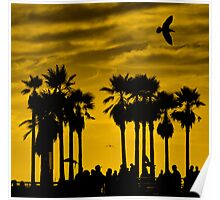 "...""boiling over bubbling up""....(Venice Beach sunset, California) Poster"