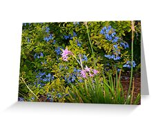 Blue and purple flowers Greeting Card