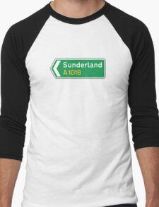 Sunderland, Road Sign, UK  Men's Baseball ¾ T-Shirt